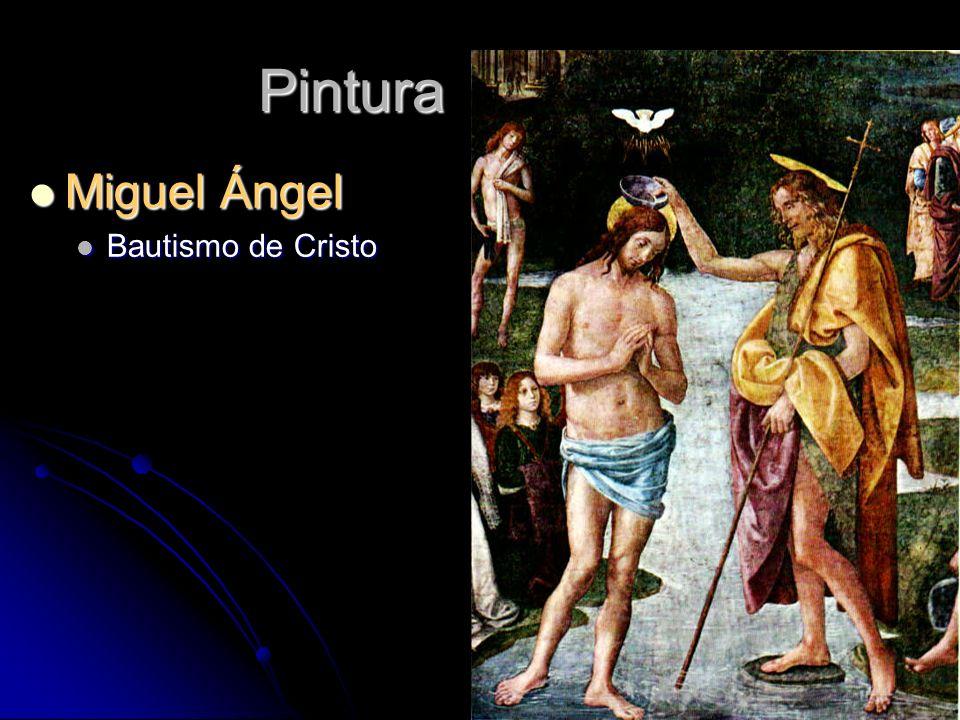 Pintura Miguel Ángel Bautismo de Cristo