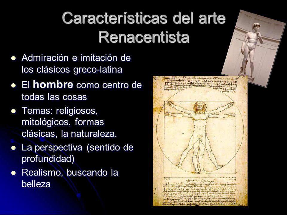 Características del arte Renacentista