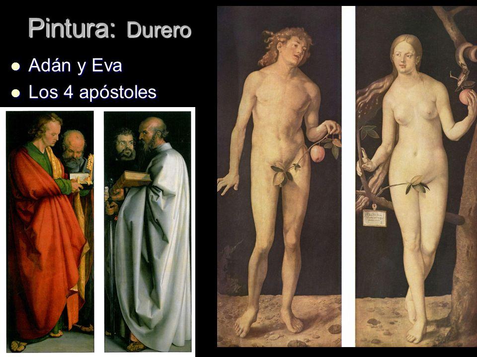Pintura: Durero Adán y Eva Los 4 apóstoles