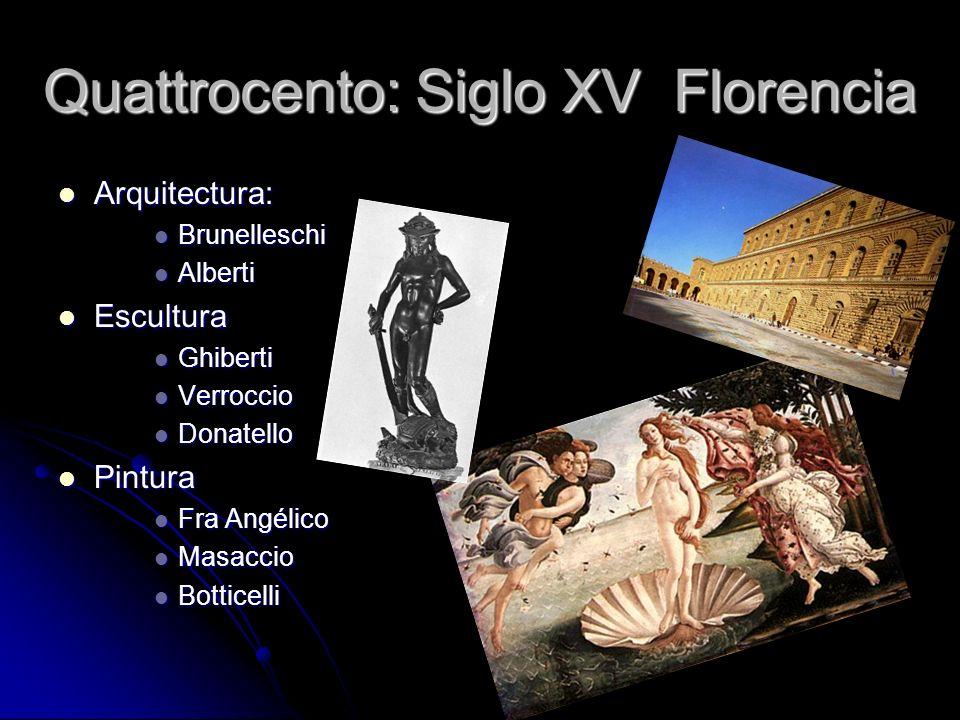 Quattrocento: Siglo XV Florencia