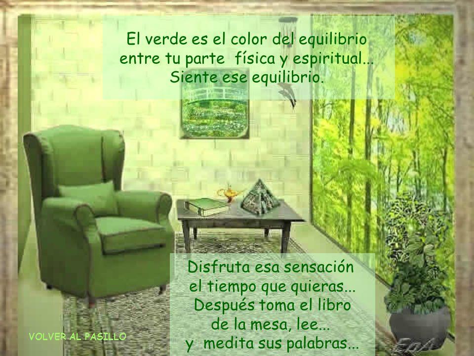 El verde es el color del equilibrio