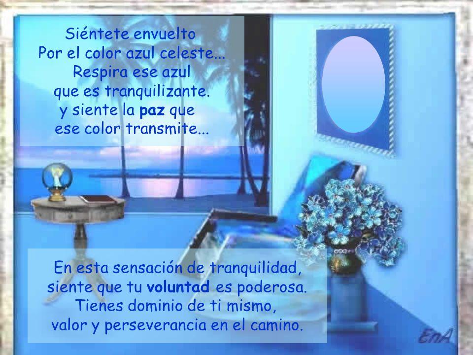 Por el color azul celeste... Respira ese azul que es tranquilizante.