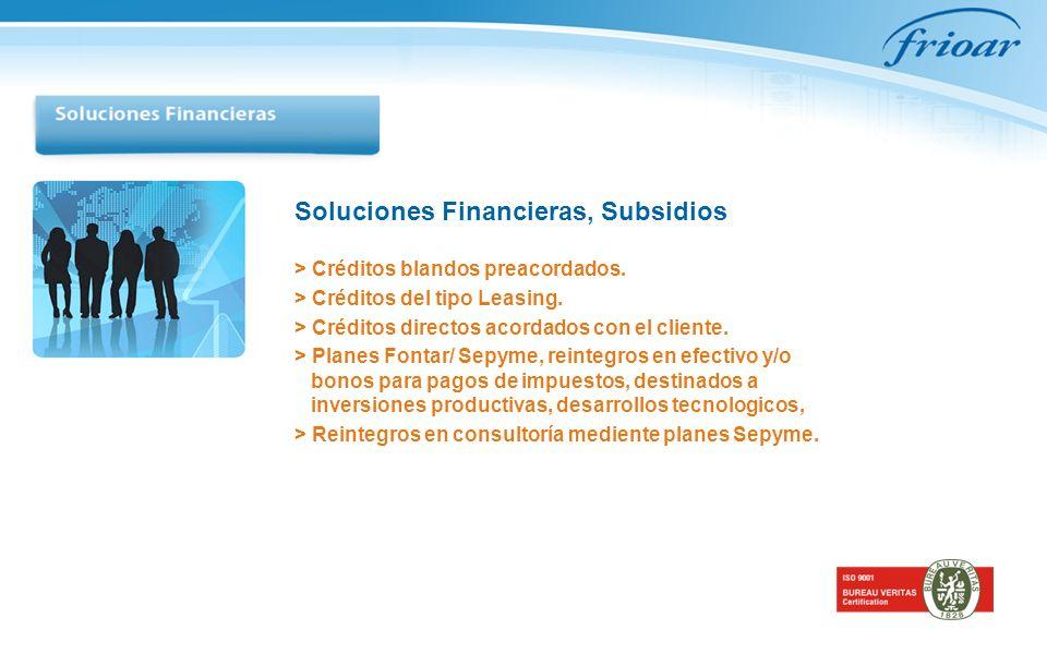 Soluciones Financieras, Subsidios