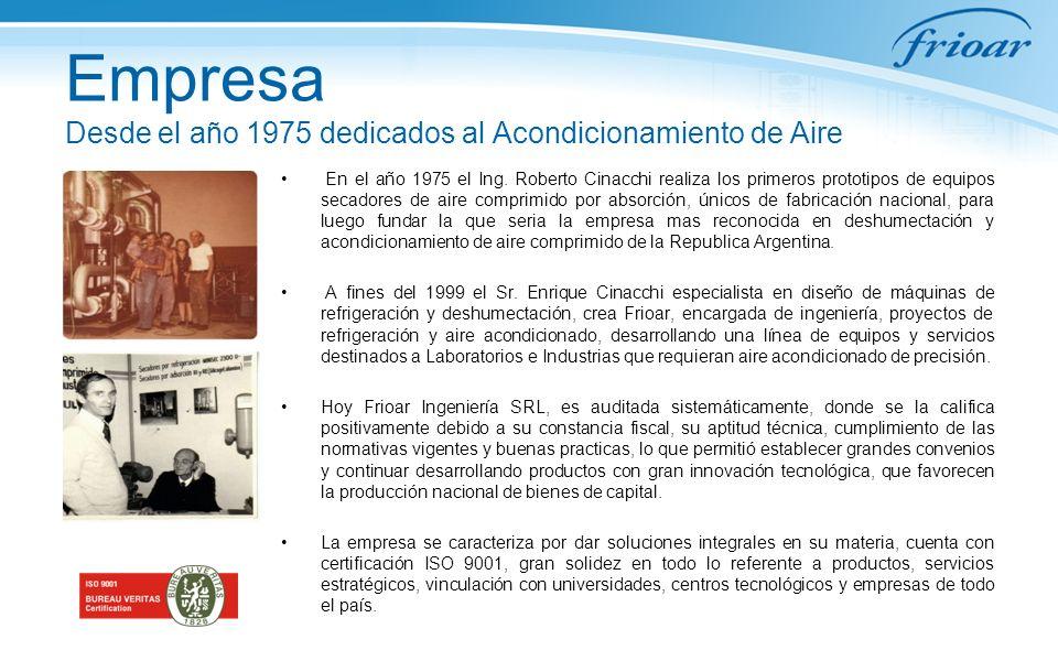 Empresa Desde el año 1975 dedicados al Acondicionamiento de Aire