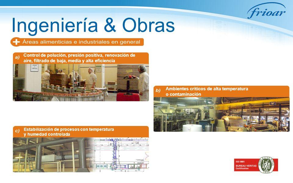 Ingeniería & Obras Control de polución, presión positiva, renovación de aire, filtrado de baja, media y alta eficiencia.