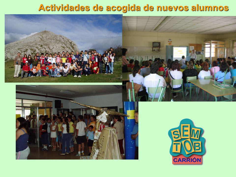 Actividades de acogida de nuevos alumnos