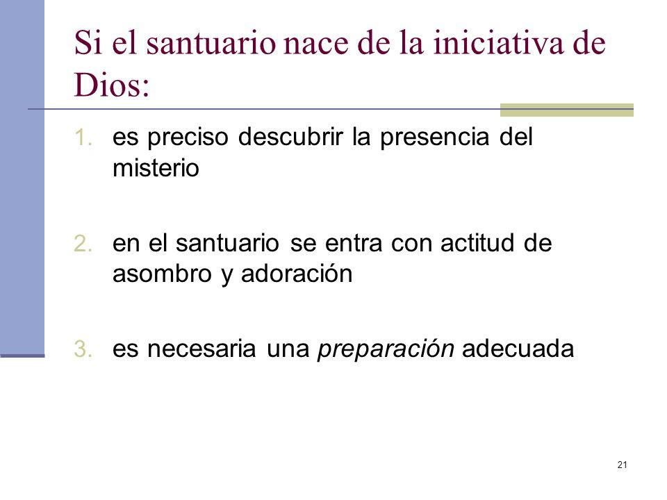 Si el santuario nace de la iniciativa de Dios: