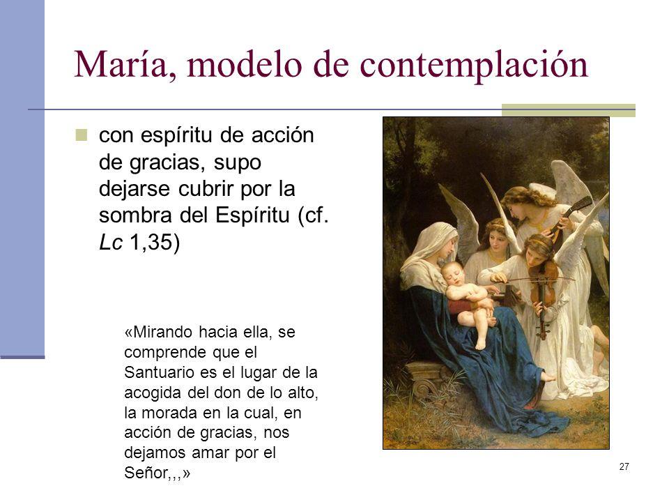 María, modelo de contemplación