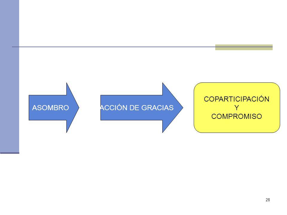 ASOMBRO ACCIÓN DE GRACIAS COPARTICIPACIÓN Y COMPROMISO