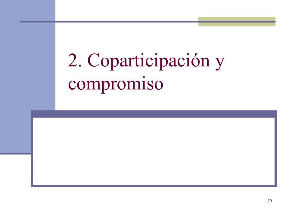 2. Coparticipación y compromiso