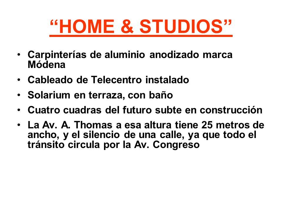 HOME & STUDIOS Carpinterías de aluminio anodizado marca Módena