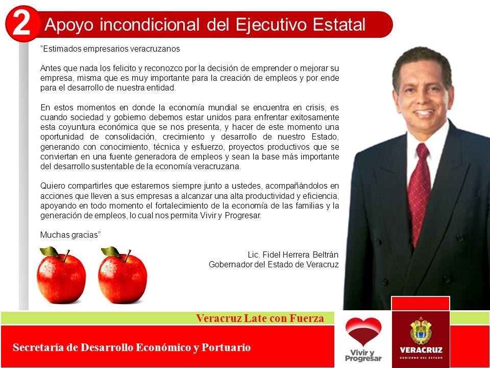 2 Apoyo incondicional del Ejecutivo Estatal Veracruz Late con Fuerza