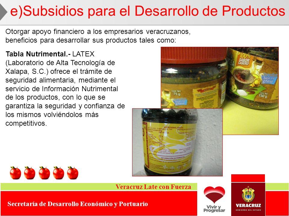 e)Subsidios para el Desarrollo de Productos