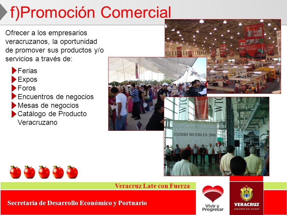 f)Promoción Comercial