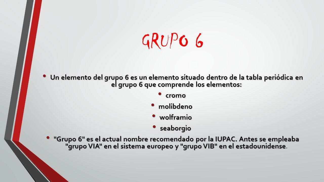 Tabla periodica la tabla peridica de los elementos es una grupo 6 un elemento del grupo 6 es un elemento situado dentro de la tabla peridica urtaz Gallery