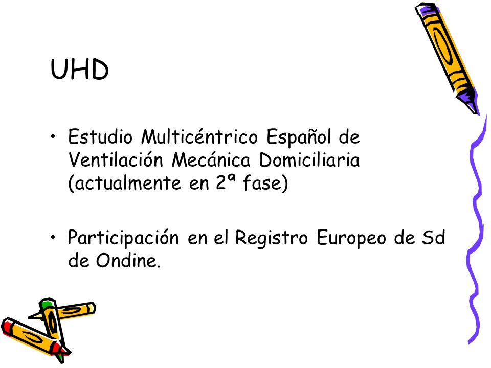 UHD Estudio Multicéntrico Español de Ventilación Mecánica Domiciliaria (actualmente en 2ª fase)