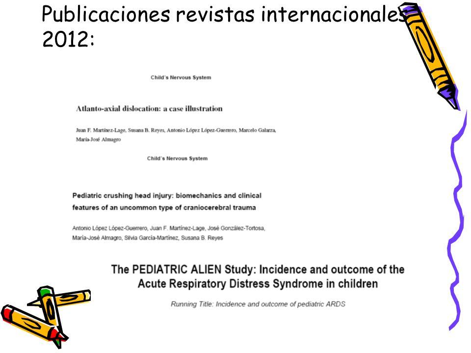 Publicaciones revistas internacionales 2012: