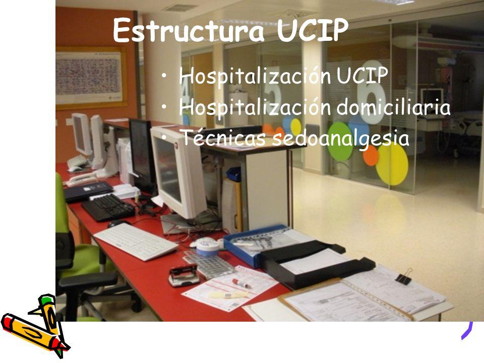 Estructura UCIP Hospitalización UCIP Hospitalización domiciliaria