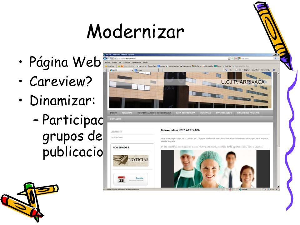 Modernizar Página Web: www.ucip-murcia.es. Careview Dinamizar: