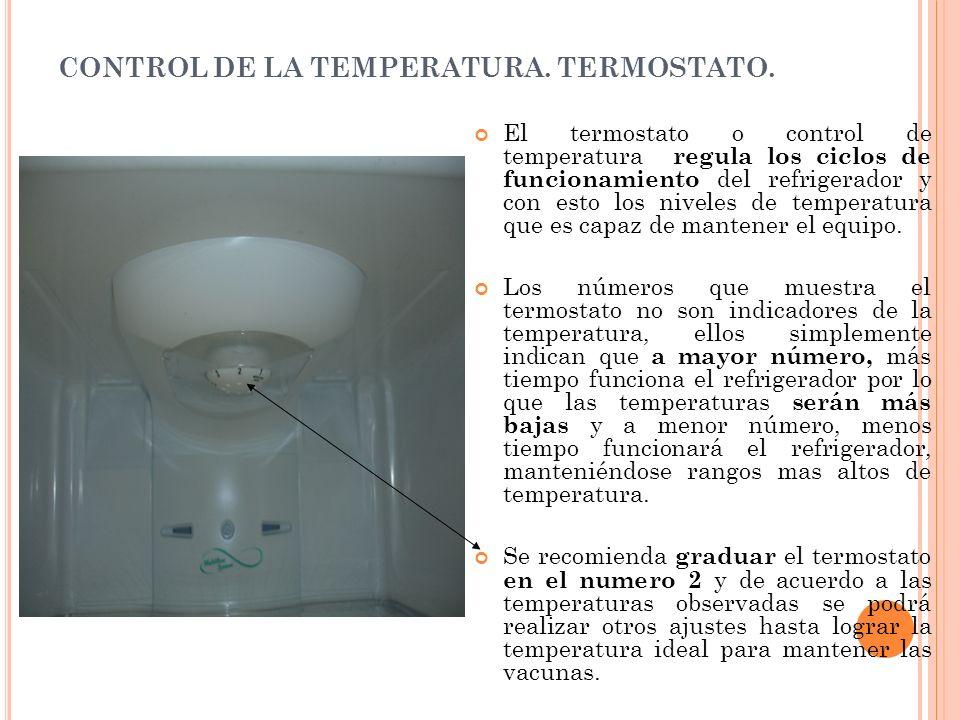 CONTROL DE LA TEMPERATURA. TERMOSTATO.