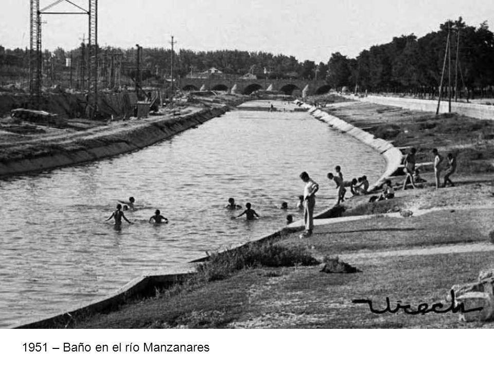 1951 – Baño en el río Manzanares
