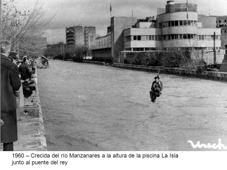 1960 – Crecida del río Manzanares a la altura de la piscina La Isla