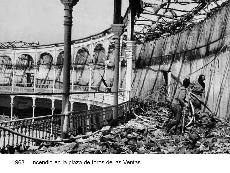 1963 – Incendio en la plaza de toros de las Ventas