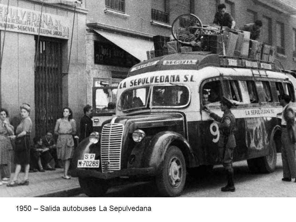 1950 – Salida autobuses La Sepulvedana