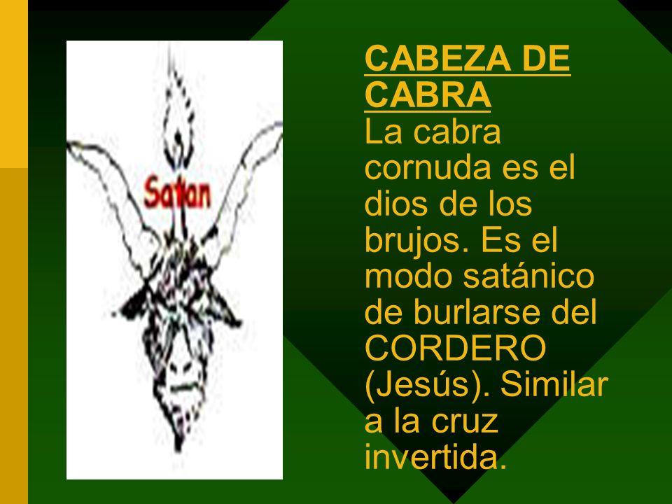 CABEZA DE CABRA La cabra cornuda es el dios de los brujos