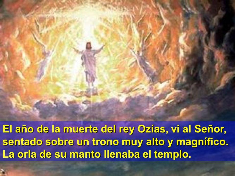 CAMBIAR IMAGEN El año de la muerte del rey Ozías, vi al Señor, sentado sobre un trono muy alto y magnífico.