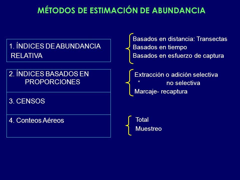 MÉTODOS DE ESTIMACIÓN DE ABUNDANCIA