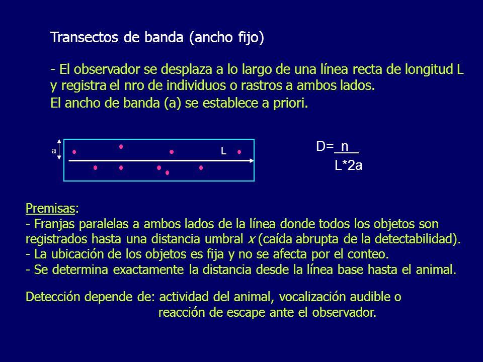 Transectos de banda (ancho fijo)
