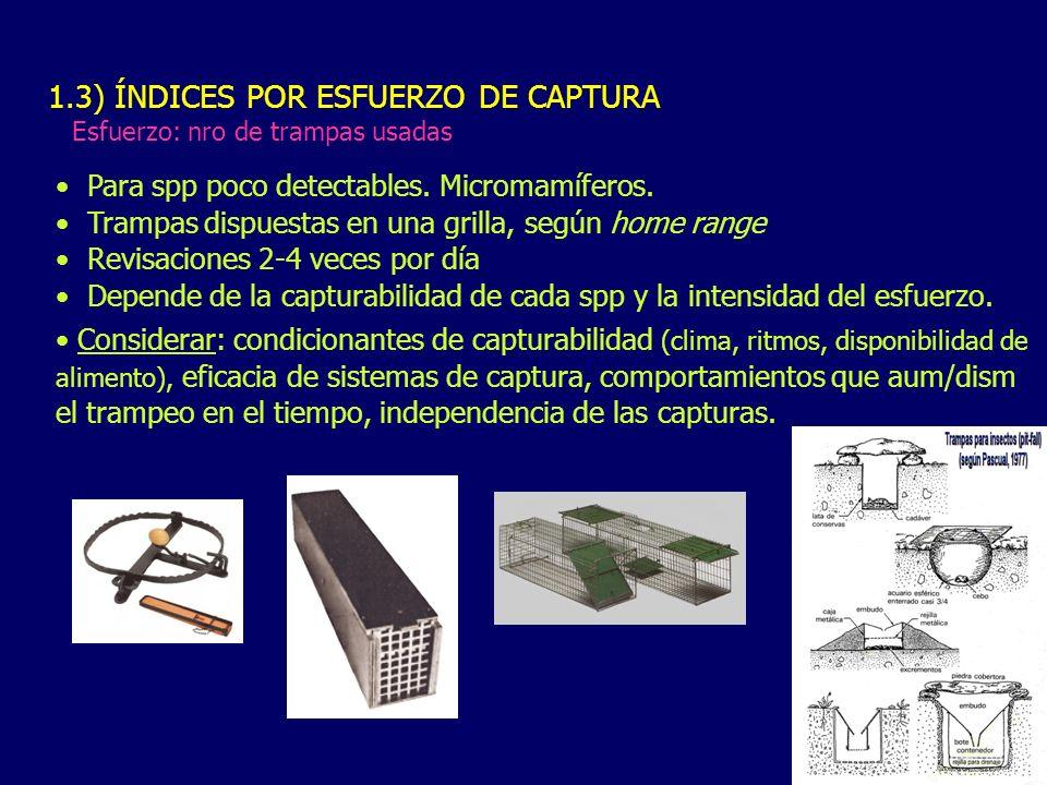 1.3) ÍNDICES POR ESFUERZO DE CAPTURA
