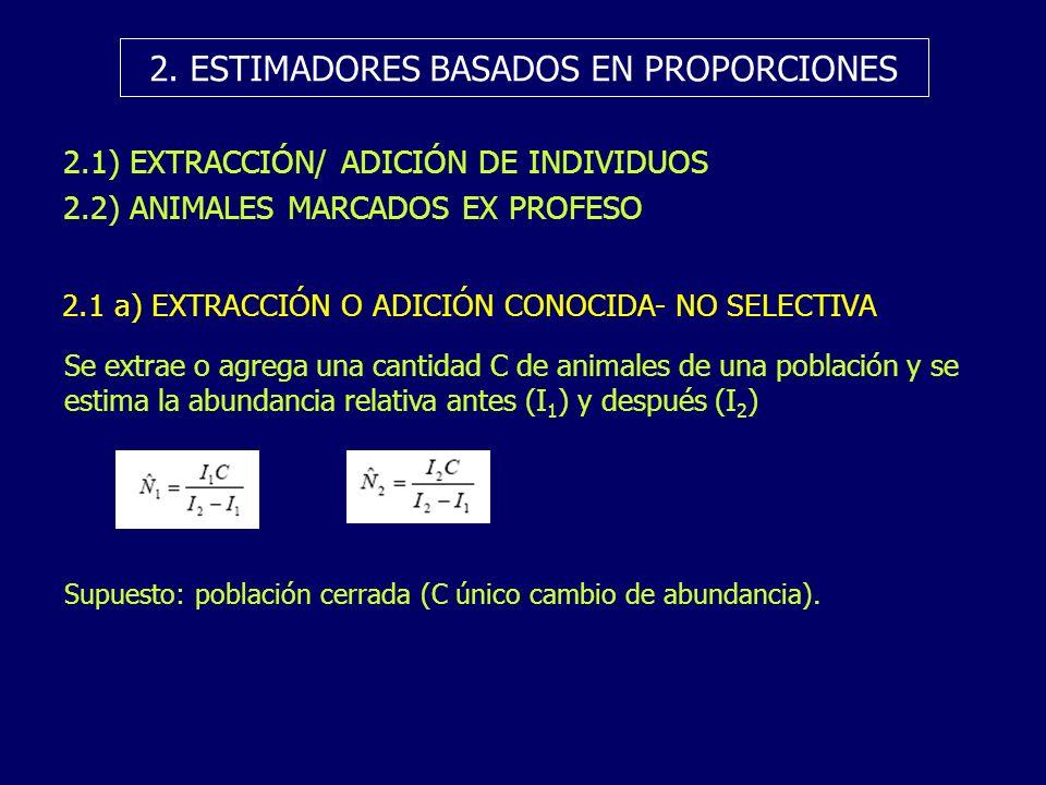 2. ESTIMADORES BASADOS EN PROPORCIONES