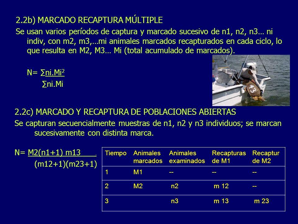 2.2b) MARCADO RECAPTURA MÚLTIPLE