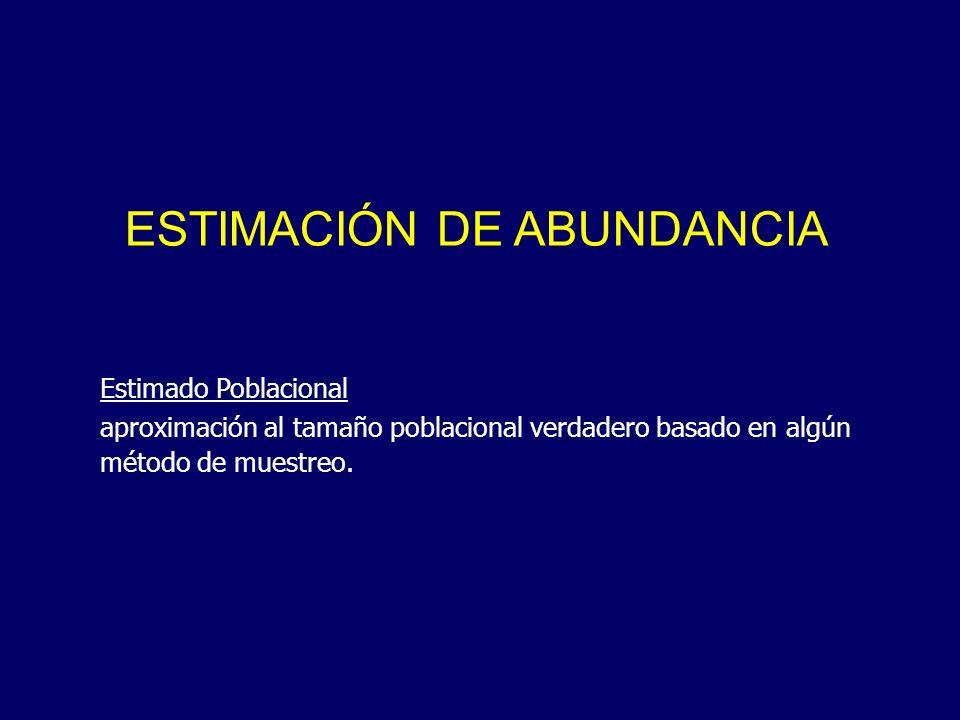 ESTIMACIÓN DE ABUNDANCIA