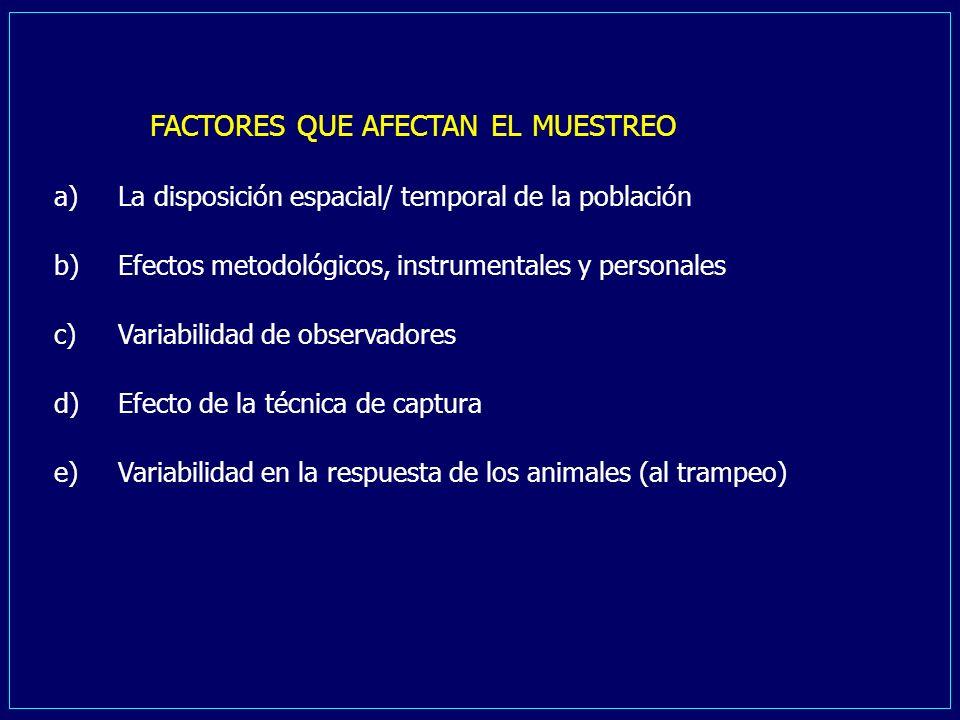FACTORES QUE AFECTAN EL MUESTREO