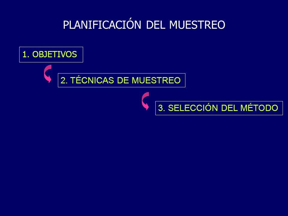 PLANIFICACIÓN DEL MUESTREO