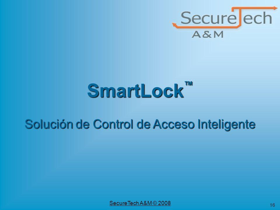 SmartLock™ Solución de Control de Acceso Inteligente