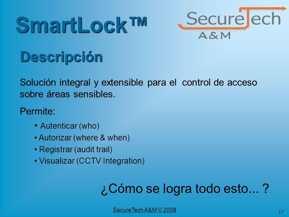 SmartLock™ Descripción ¿Cómo se logra todo esto...