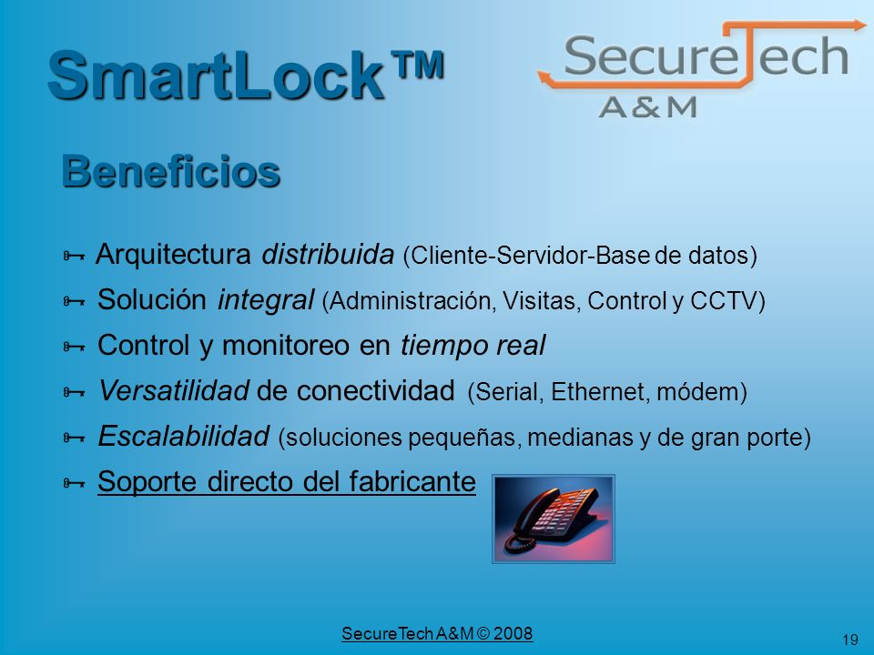 SmartLock™ Beneficios