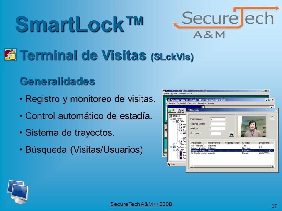 SmartLock™ Terminal de Visitas (SLckVis) Generalidades