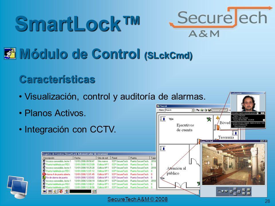SmartLock™ Módulo de Control (SLckCmd) Características