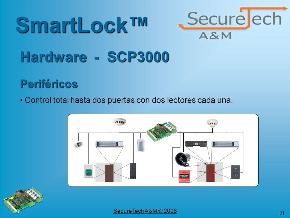 SmartLock™ Hardware - SCP3000 Periféricos