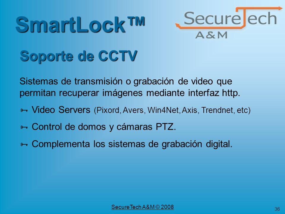 SmartLock™ Soporte de CCTV