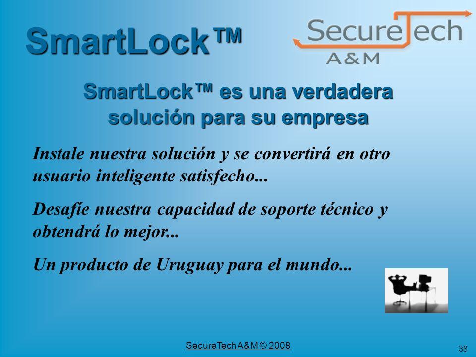 SmartLock™ es una verdadera solución para su empresa