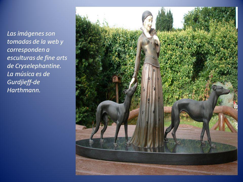 Las imágenes son tomadas de la web y corresponden a esculturas de fine arts de Cryselephantine.