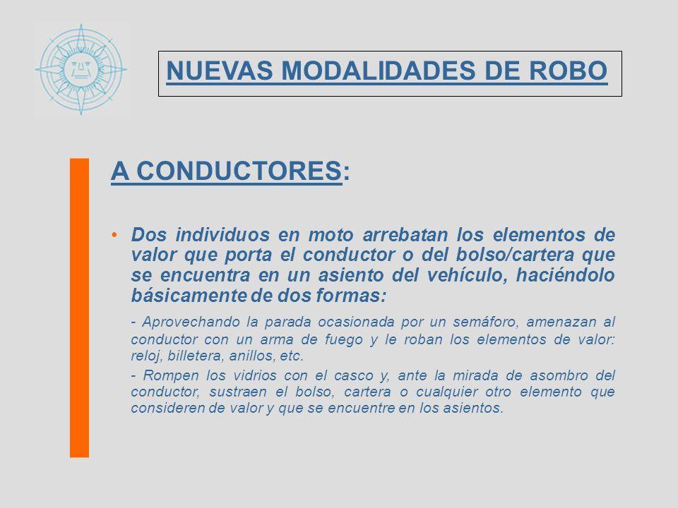 NUEVAS MODALIDADES DE ROBO