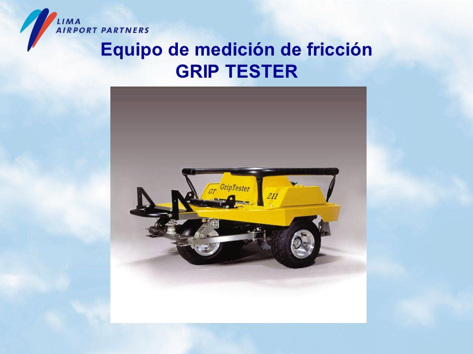 Equipo de medición de fricción GRIP TESTER