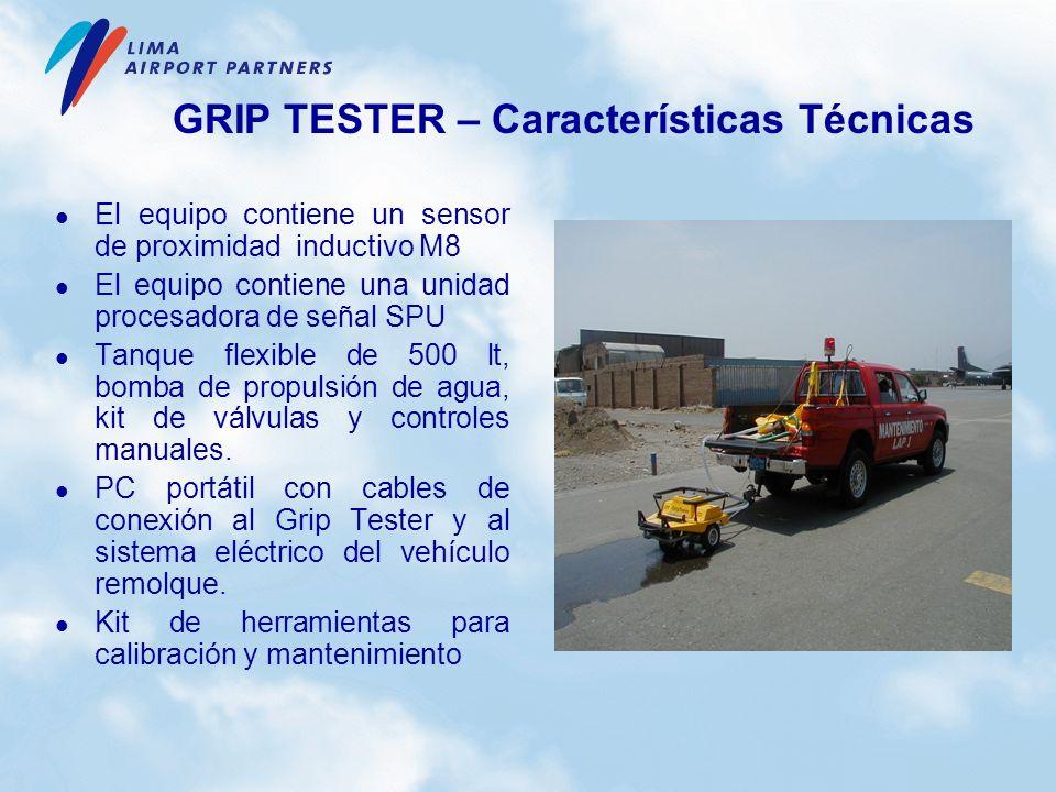 GRIP TESTER – Características Técnicas